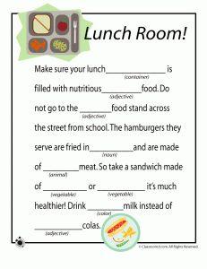mad libs for kids - Google Search   Teaching Ideas/Teaching ...