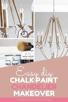 Looking for a way to transform that outdated chandelier? This easy DIY chalk paint chandelier makeover will bring your chandelier from drab to fab! Diy Furniture On A Budget, Diy Furniture Plans, Diy Furniture Projects, Diy Home Decor Projects, Diy On A Budget, Furniture Makeover, Painted Chandelier, Old Chandelier, Chandelier Makeover