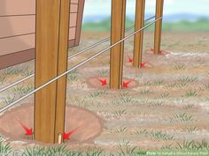 Image titled Install a Wood Fence Post Step 14 More Best Picture For how to build a fence gate For Y Wood Fence Post, Wood Post, Diy Fence, Wooden Fence, Fence Ideas, Wood Fence Gates, Yard Fencing, Privacy Fences, Wood Fence Design