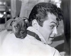 Tony Curtis and his family loved dogs
