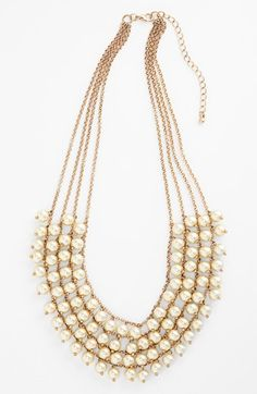 Stephan & Co. Multistrand Faux Pearl Statement Necklace (Juniors) available at #Nordstrom