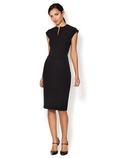 LRK  Emma Split Crewneck Sheath Dress