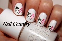 """""""Her buck, his doe"""" nails"""