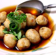 Fried Taro Potatoes with a Sweet and Sour Dipping Sauce