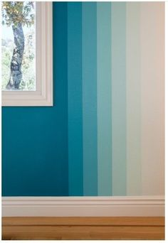 Cool 49 Pretty Ombre Wall Paint Designs Ideas For Living Room. # wall painting 49 Pretty Ombre Wall Paint Designs Ideas For Living Room Creative Wall Painting, Room Wall Painting, Creative Walls, Wall Paintings, Wall Paint Patterns, Wall Paint Colors, Paint Walls, Painting Stripes On Walls, Painting Designs On Walls