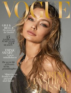 f1fcc0d8cb Gigi Hadid for the March 2018 Cover of the British Vogue Portadas De La Revista  Vogue