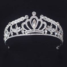 #weddingcrown #weddingtiara #rhinestonescrown #crystalcrown #alibaba #alibabajewelry #bridalheadband #pageantcrown #princesscrown
