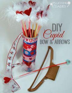 Cupid's Arrow Valentines   @PluckingDaisy #ValentinesDay #KidsCraft
