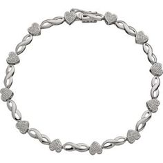 Buy Sterling Silver Diamond Hearts and Kisses Bracelet at Argos.co.uk - Your Online Shop for Ladies' bracelets and bangles.