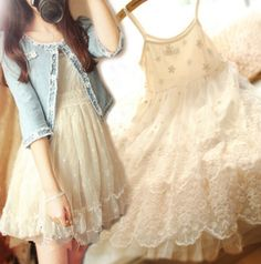 """Material:lace  Color:white  Size:free+size Skirt+length:79cm/30.81""""(condole+belt+can+be+adjusted), Bust:89cm/34.71"""", Axillary:20cm/7.8"""", (tip:1mm=0.039inch)  Tips: *Please+double+check+above+size+and+consider+your+measurements+before+ordering,thank+you+^_^  Visiting+Store: Http://cu..."""