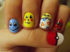 pokemon naills | Everything Pokemon: Pokemon Nails - Manicure of the Characters