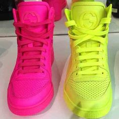 Gucci sneakers in neon kinda hate myself for loving them, and googling this after Malaysia on Basketball jumpoffs wore em. These are going in Novelty bish.