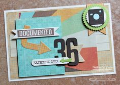 Project Life week 36 title card by mom2n2 - Cards and Paper Crafts at Splitcoaststampers