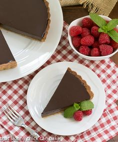 Ganache Topped Chocolate Tart| The silkiest filling I've ever tasted!!!