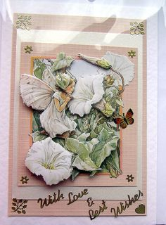Fairy HandCrafted 3D Decoupage Card  With Love & by SunnyCrystals #pcfteam