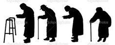 Resultado de imagen para siluetas de parejas ancianos