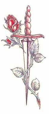 "My oldskool tattoo ""dagger and rose"""