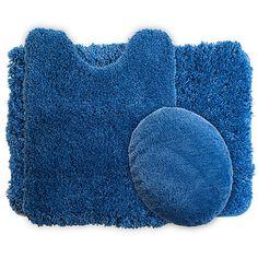 Lavish Home 3 Piece Super Plush Non-Slip Bath Mat Rug Set - Home - Bed & Bath - Bath - Bath Towels & Rugs - Bath Rugs & Mats
