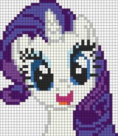 Happy Rarity Perler Bead Pattern | Bead Sprites | Characters Fuse Bead Patterns