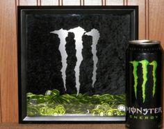 Monster Energy Drinks, Monster Energy Gear, Monster Energy Girls, Girl Drawing Images, Monster Decorations, Pinterest Room Decor, Monster Crafts, Duck Tape Crafts, Skateboard Design
