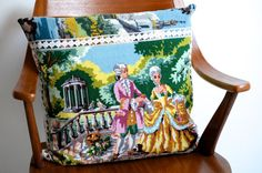 SALE handmade pillow / cushion with vintage door patcheduppillows, €35.00
