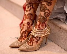 Image may contain: 1 person, shoes Mehndi Designs Feet, Legs Mehndi Design, Indian Mehndi Designs, Stylish Mehndi Designs, Bridal Henna Designs, Mehndi Design Photos, Anklet Designs, Beautiful Henna Designs, Mehandi Designs