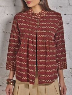 These Ajrakh print shirt jackets are multi-purpose to the core. They are a great early winter investment. Wear them over warm camisoles or full sleeves cardigans.  Best Team up Garment: Straight Pants or Balloon Pants!