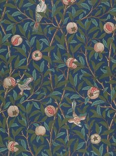 Bird and Pomegrantate wallpaper (late 19th century) - William Morris wallpaper…