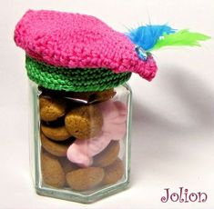 4x Sinterklaas DIY: snoeppotjes maken Candy Jars, Crochet Gifts, Diy For Kids, Diys, December, Diy Crafts, Knitting, Holiday, Om