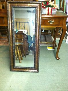 Large Rectangle Mirror by JenCinAntiques on Etsy, $45.00
