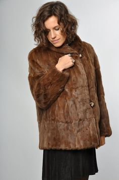 Doc brown vintage fur coat