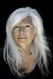 Image result for older women with long hair