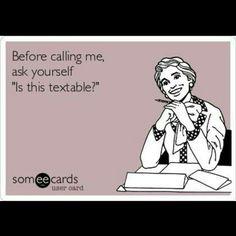 Phone phobia.