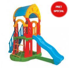 Centru de joaca cu tobogan si scara - GALAXY Slide Set Slide, People Sitting, Play Shoes, Presents, Outdoor Play, Pictures, Image, Design, Gifts