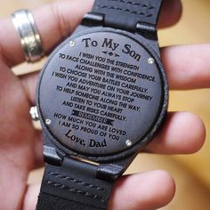 Perfect Gift For Husband Engraved Wooden Watch. Get your husband something special! This is a beautiful watch made from real wood. The watch case and band are made from wood and the clasp is made from real leather. Black friday sale off percent. Diy Gifts For Boyfriend, Gifts For Husband, Wedding Gift Husband, Fiance Gifts, Birthday Gift For Fiance, Best Boyfriend Gifts Birthday, Msg For Husband, Gift For Parents, Monthsary Message For Boyfriend