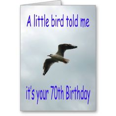 Happy #70th #Birthday #Flying #Seagull #bird Greeting Cards #Zazzle