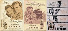 Propaganda dos anos 50 do Petróleo Juvenia: tônico para os cabelos.