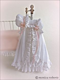 1:12th scale miniature christening robe