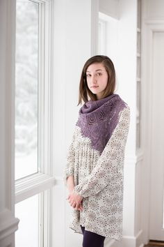 """Lily Go adds another stunner to her portfolio of ornate lace shawls. Striking Anisos is composed of four triangles, two larger ones forming the back and two smaller ones wrapping to the front. Written for five sizes ranging from a dainty shawlette to dramatic statement piece with an enveloping 80"""" wingspan, Anisos is worked in …"""
