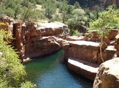 """The """"keyholes"""" swimming hole near Sedona, Arizona. I'm thinking I probably should just live there."""