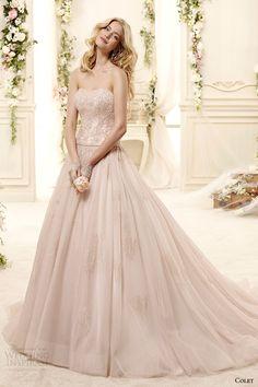 Colet bridal 2015   strapless blush a line wedding dress