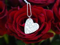 Sterling silver heart pendant by SilverByKat on Etsy