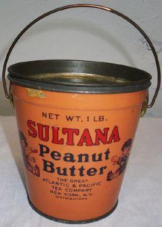 Antique Tins   Old Tin Bucket