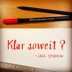 Tag 2 der #letterattackchallenge von @frauhoelle Klar soweit?  Jack Sparrow #lettering #challenge #mai #letteringchallenge #day2 #uebenuebenueben #handlettering #brushlettering #practice