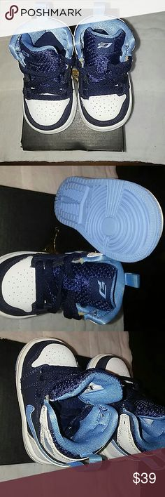 Girls or Boys JORDAN 1 RETRO HIGH BT These high top sporty tennis shoes can be for a boy or girl. These shoes are new and have never been worn the only ware and tare is to the box. Reference pictures are above of the shoes in and out and the soles Thanks! Jordan Shoes Sneakers