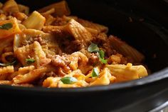 Crockpot Sausage Rigatoni...easy and done in less than 4 hours!