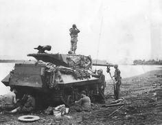 M10 Wolverine Tank Destroyer of the 77th Infantry Division 632 Tank Destroyer Battalion Ormoc Leyte Philippines December 1944