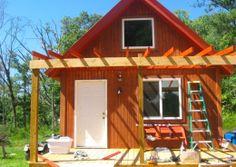 Wood Frame Cabin by buzzardroostfarm http://www.cabinbuilds.net/wood-frame-build-by-buzzardroostfarm
