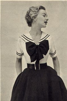 Fashion, Vintage, 1940s, Sailor, Nautical, Vogue