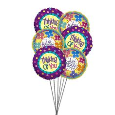 Send bundle of colorful balloons for you. Balloon Delivery to USA